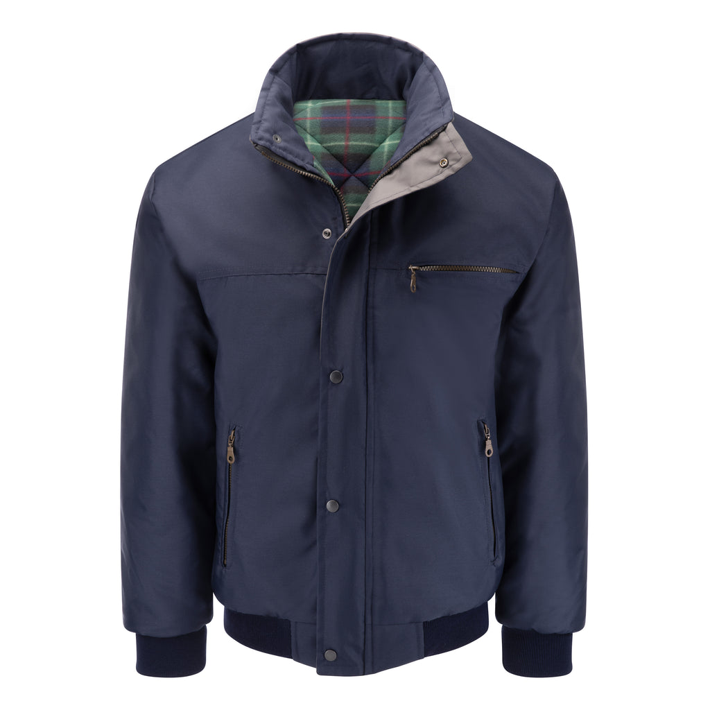 Mens Sky Diver Padded Bomber Jacket - Navy