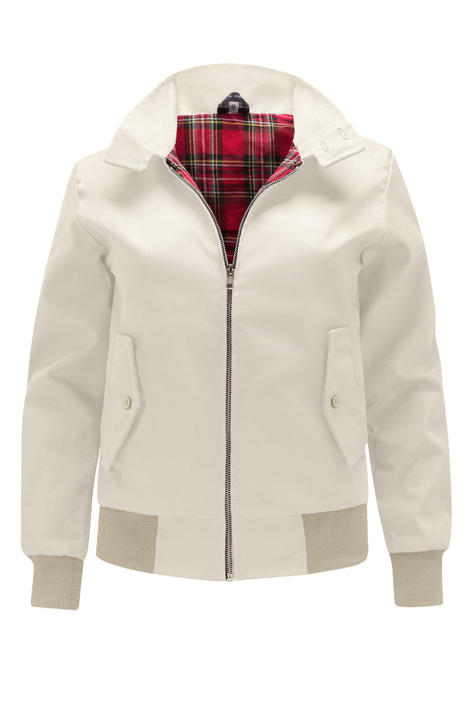Womens Classic Harrington Jacket - Beige