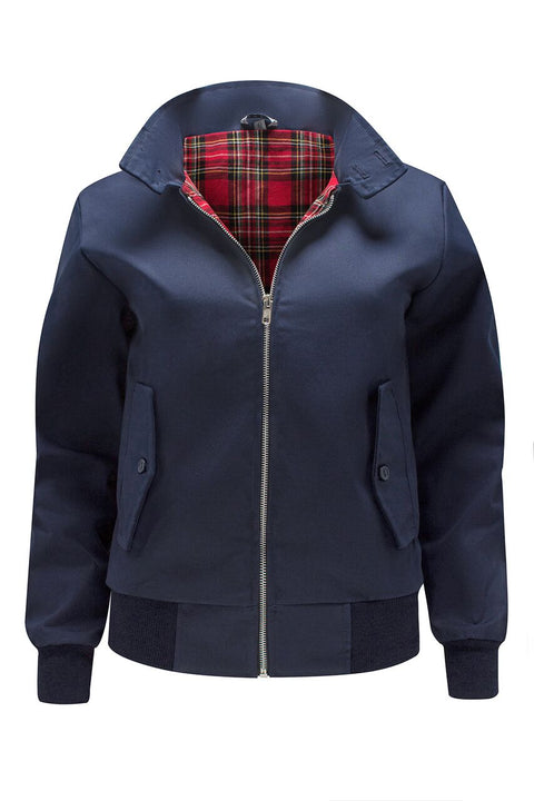 Womens Classic Harrington Jacket - Navy