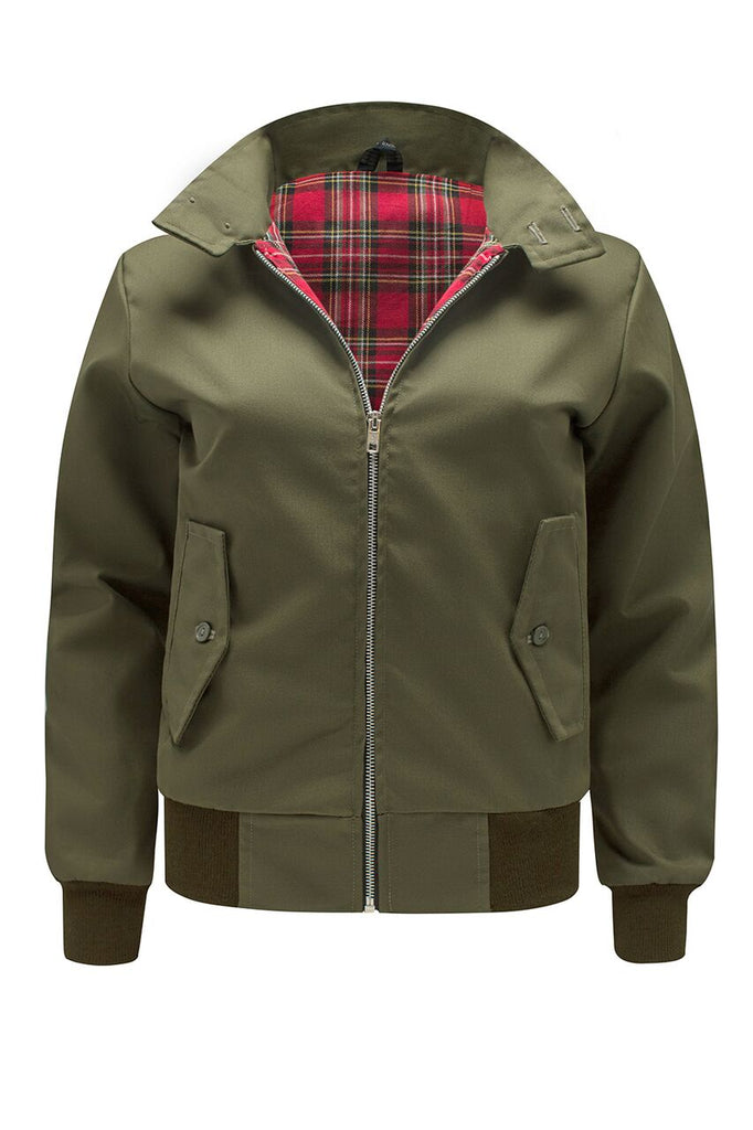Womens Classic Harrington Jacket - Olive