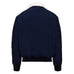 Mens Harrington Jacket with White Sherpa Collar - Navy