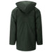 Mens Padded Wax Jacket With Detachable Hood - Olive