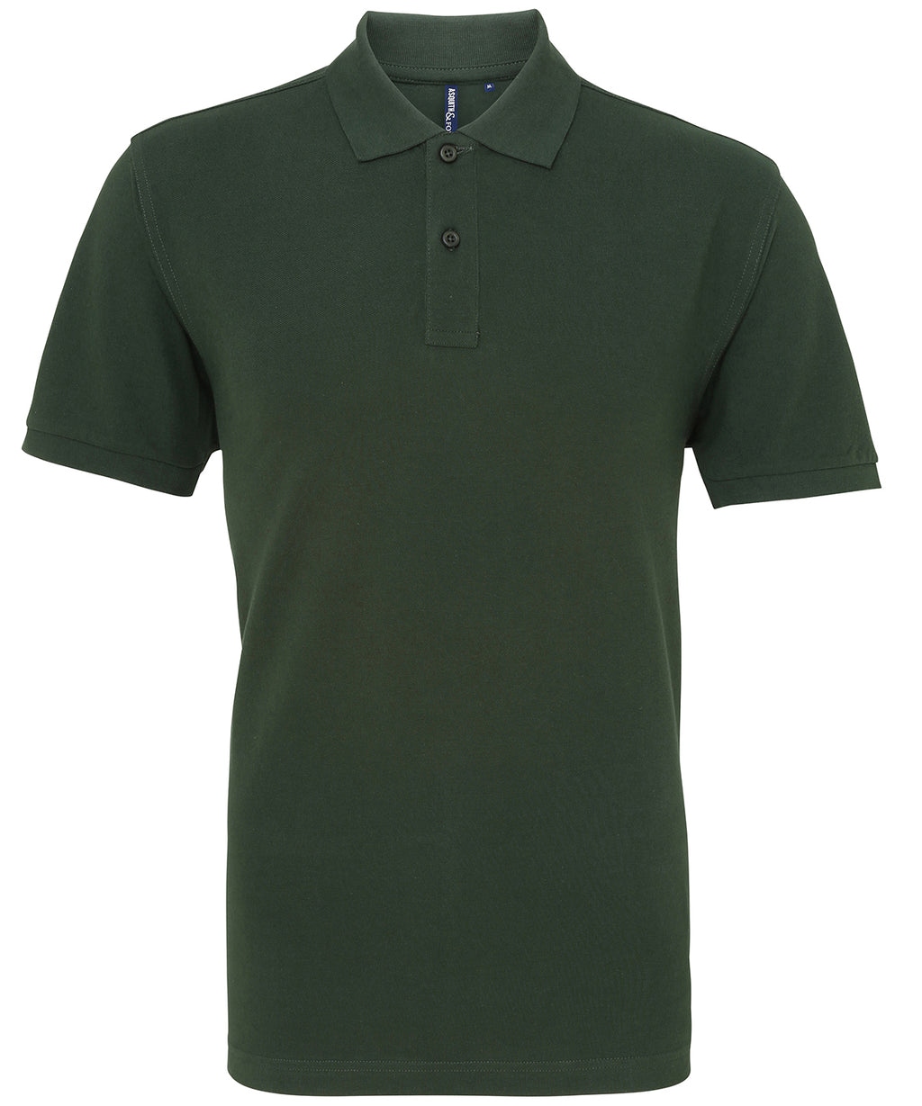 Mens Plain Short Sleeve Polo Shirt - Bottle Green