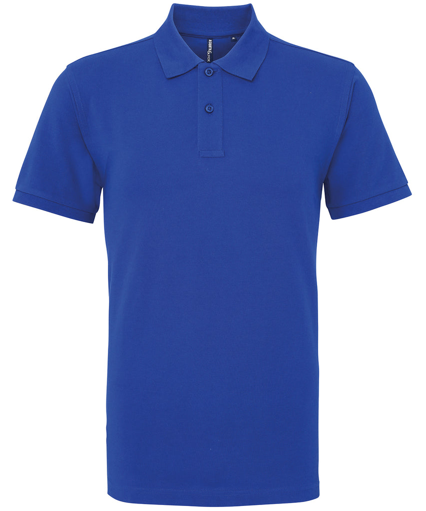 Mens Plain Short Sleeve Polo Shirt - Royal Blue