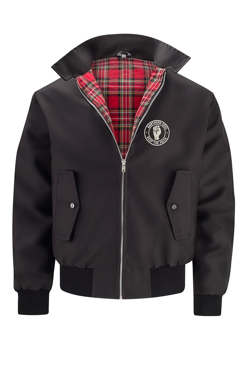 Classic Harrington Jacket - Black (with Northern Soul badge)