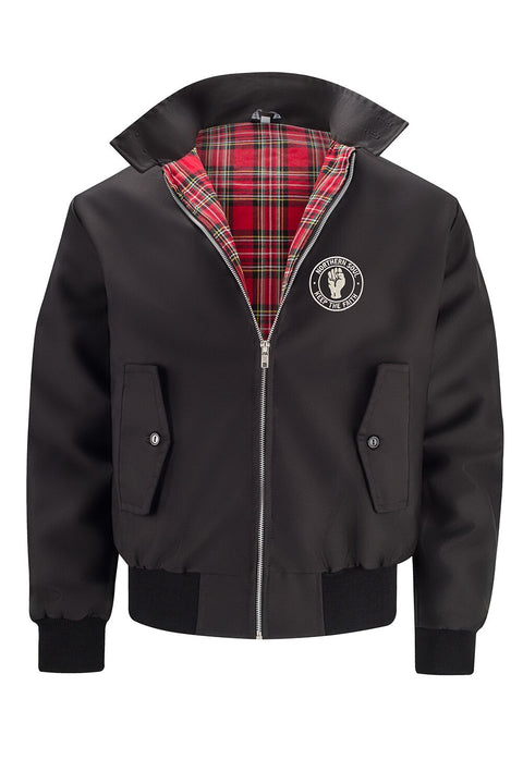 Mens Classic Harrington Jacket - Black (with Northern Soul badge)