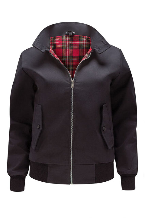 Womens Classic Harrington Jacket - Black