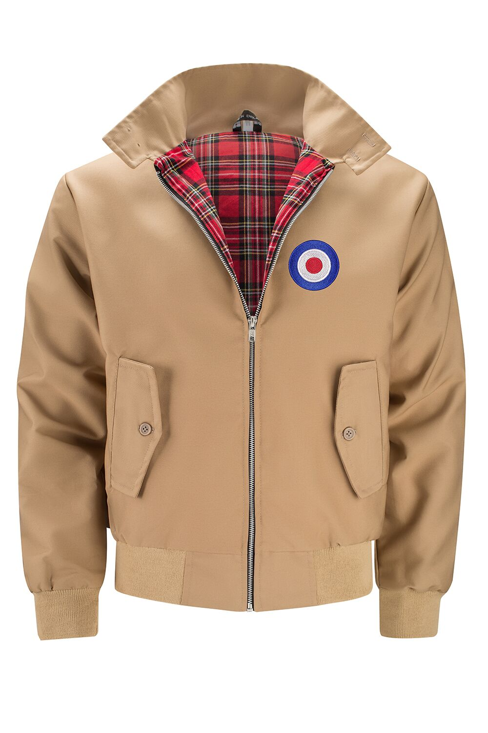 Mens Classic Harrington Jacket - Camel (with MOD badge)