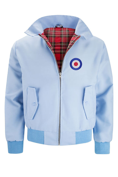 Classic Harrington Jacket - Light Blue (with MOD badge)