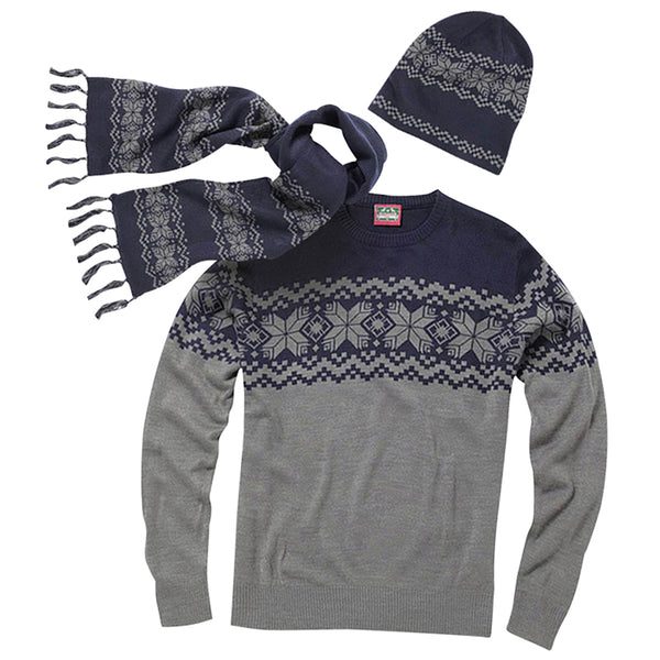Knitted Jumper, Hat and Scarf Set