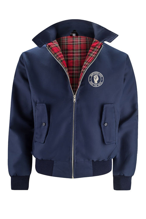 Classic Harrington Jacket - Navy (with Northern Soul badge)