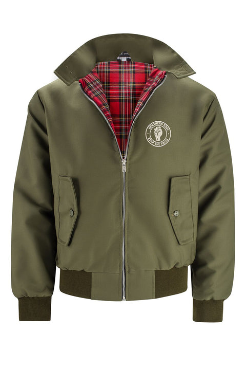 Classic Harrington Jacket - Olive (with Northern Soul badge)
