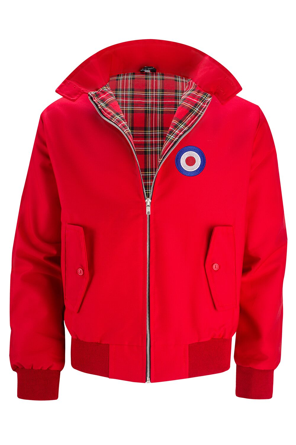 Classic Harrington Jacket - Red (with MOD badge)