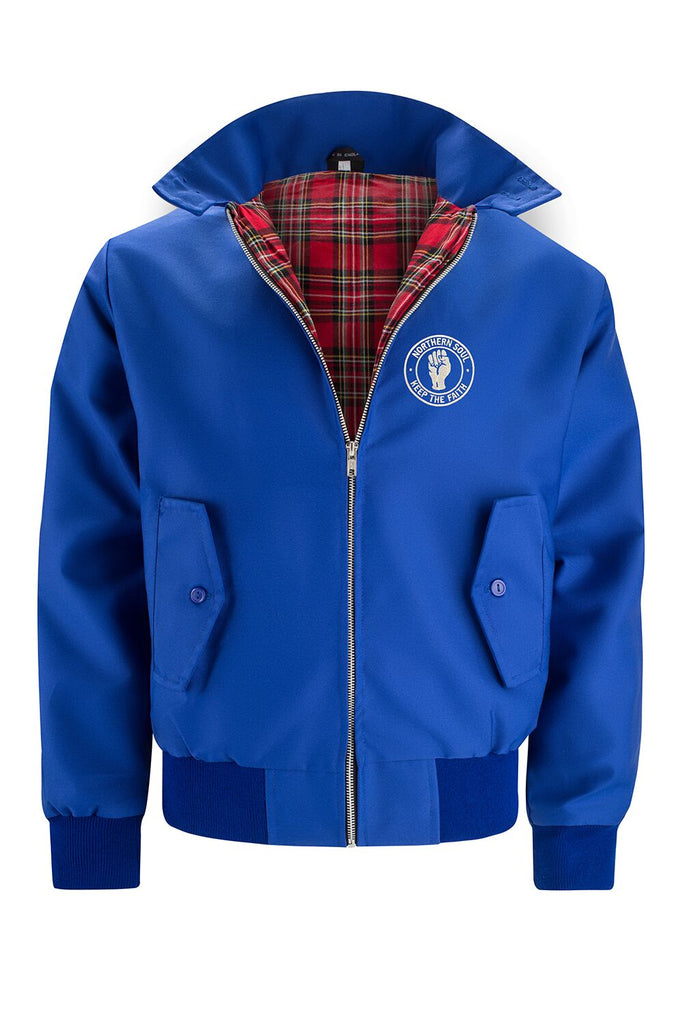 Classic Harrington Jacket - Royal Blue (with Northern Soul badge)