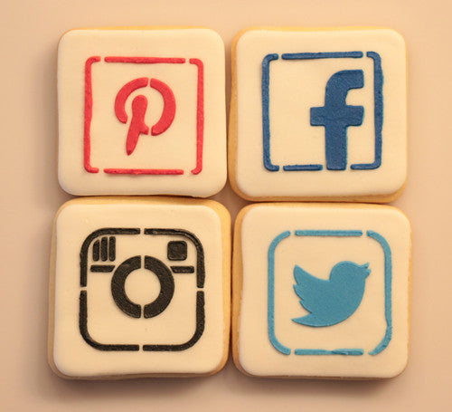 Social Media Cookie Decorating, Cookie Stencil (Video)| Torten Schablone