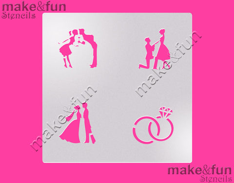 Wedding cookie Stencil for chocolate covered Oreos|Kuchen Schablonen, Airbrush und Royal Icing