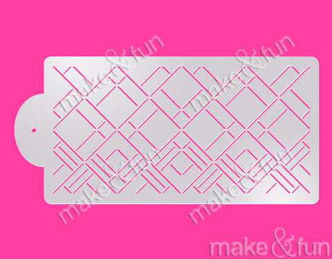 Art Deco Cake Stencil, Cookie Stencil, Decoupage|Art Deco Bordüre Torten Schablonen,Royal Icing