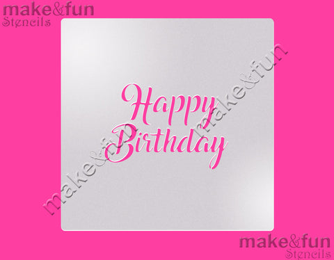 "5.5""x5.5"" Cookie Stencil, Birthday, Craft Stencil