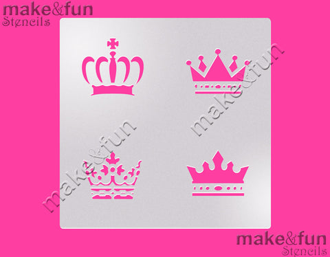 Crown Stencil for chocolate covered Oreos|Kuchen Schablonen, Airbrush und Royal Icing