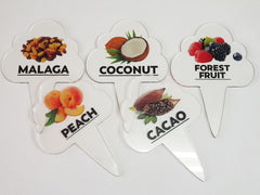 6 pcs Gelato Flavor Markers, Ice Cream Labels, Flavor Tags,Gelato Stickers, Ice Cream Sticks