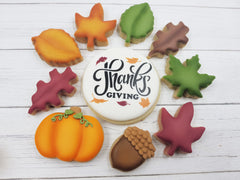 "5.5""x5.5"" Cookie Stencil, Thanksgiving, Craft Stencil