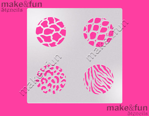 Animal Print Stencil for chocolate covered Oreos|Kuchen Schablonen, Airbrush und Royal Icing