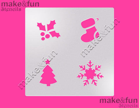 Christmas Cookie Stencil for chocolate covered Oreos|Kuchen Schablonen, Airbrush und Royal Icing