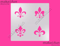Fleur de Lis cookie Stencil for chocolate covered Oreos|Kuchen Schablonen, Airbrush und Royal Icing