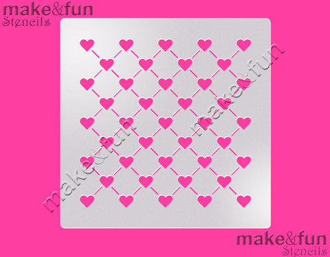 "5.5""x5.5"" Cookie Stencil, Heart, Craft Stencil