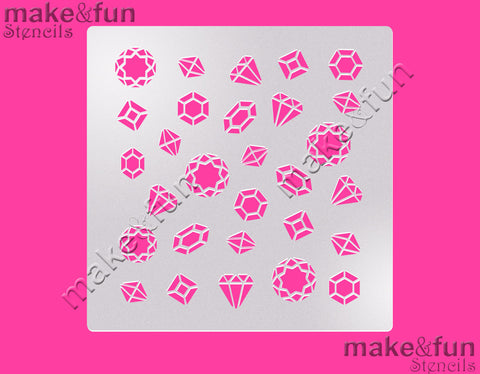 "5.5""x5.5"" Diamond Stencil, Airbrushing, Craft Stencil