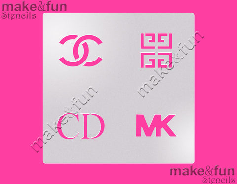 Designer Cookie Stencil for chocolate covered Oreos|Kuchen Schablonen, Airbrush und Royal Icing