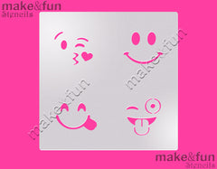 Emoji cookie Stencil for chocolate covered Oreos|Kuchen Schablonen, Airbrush und Royal Icing