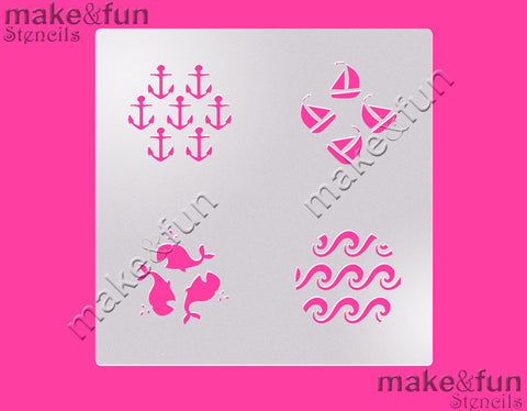 Anchor cookie Stencil for chocolate covered Oreos|Kuchen Schablonen, Airbrush und Royal Icing