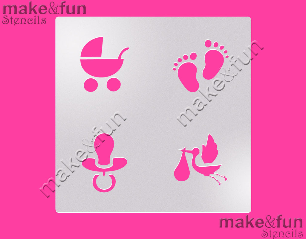 Baby Shower Cookie Stencil For Chocolate Covered Oreos ...