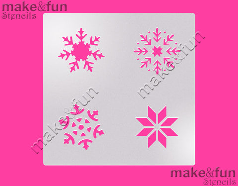 Snowflakes cookie Stencil for chocolate covered Oreos|Kuchen Schablonen, Airbrush und Royal Icing