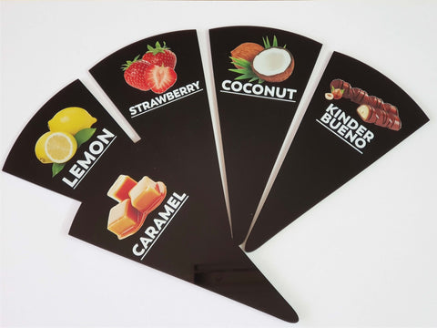 20 pcs Gelato Flavor Markers,  Flavor Tags, Gelato Stickers, Ice Cream Sticks