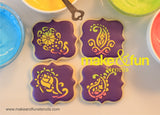 4 pcs Paisley Cookie Stencil, Cake stencil Royal Icing|4 Stück Paisley Schablonen, Royal Icing