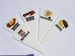 12 pcs Gelato Flavor Markers, Ice Cream Flavor Signs Labels, Tags, Gelato Stickers, Ice Cream Sticks