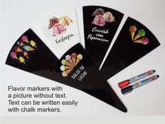 3 pcs Gelato Flavor Marker, Ice Cream Flavor Signs Labels, Flavor Tags,Gelato Stickers, Ice Cream Sticks