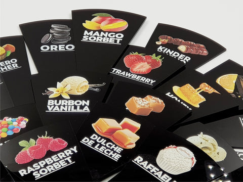 24 pcs Gelato Flavor Markers, Flavor Signs Labels, Flavor Tags,Gelato Stickers, Ice Cream Sticks