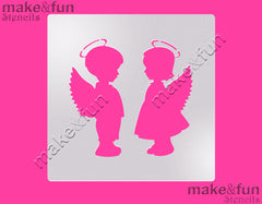 Angels Cake Stencil, Airbrushing Cookie Stencil|Engel Schablonen, Airbrush und Royal Icing