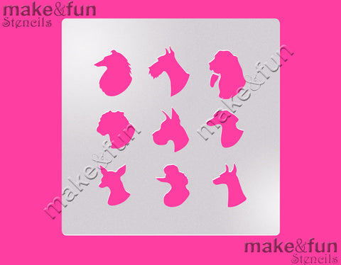 "5.5""x5.5"" Dog Pattern Cake Stencil, Airbrushing, DYO