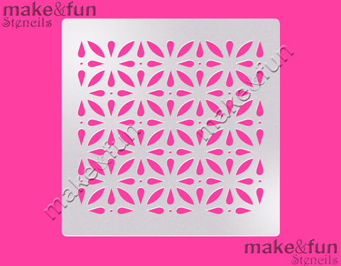 "5.5""x5.5"" Pattern Cake Stencil, Airbrushing, Craft Stencil
