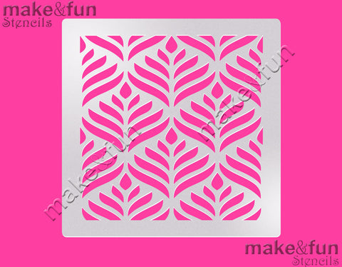 "5.5""x5.5"" Pattern Cake Stencil, Airbrushing, Craft