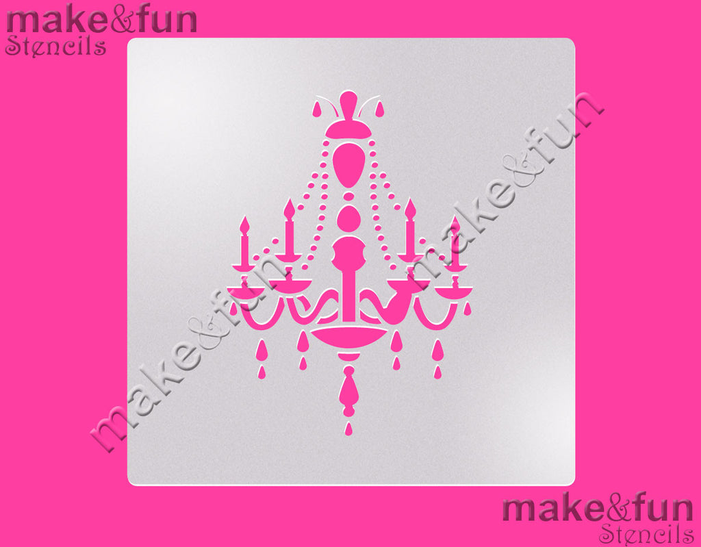 Chandelier Cake Stencil Cookie Airbrush