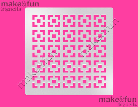 Abstract Cake Stencil, Cookie Stencil|Damask Torten Schablonen, Airbrush und Royal Icing