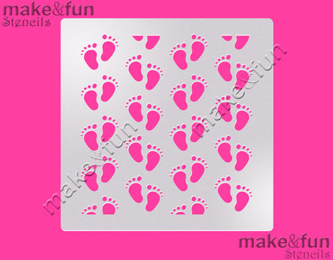 "5.5""x5.5"" Baby Shower Cake Stencil, Airbrushing, Craft