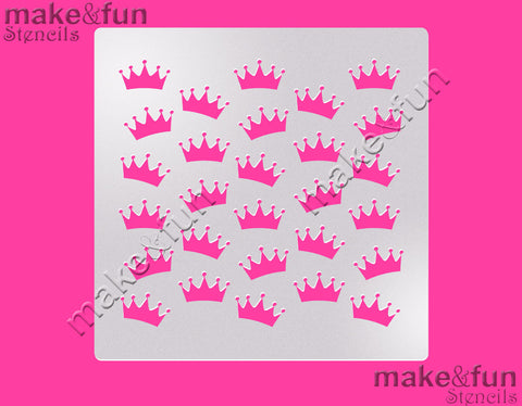 Crown Pattern Cake Stencil, Airbrushing, DYO|Schablonen, Royal Icing Schablone