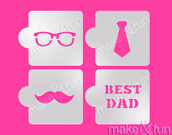 Super Dad Cookie and Craft Stencil CM129 by Designer Stencils