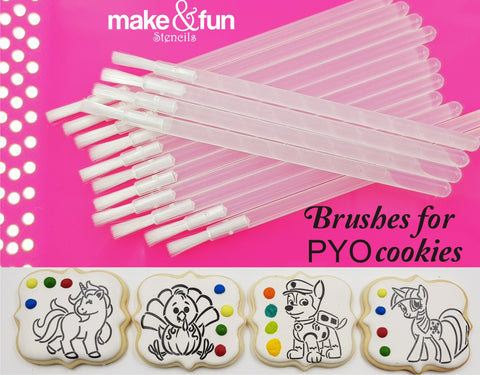 "PYO Cookie Soft Brushes 3.5"" Cookie Stencils"